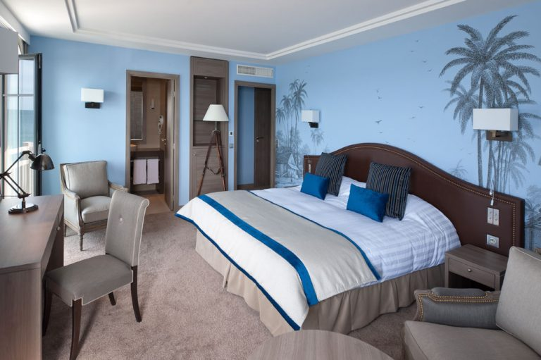 Chambre Premium bleue - Hotel Saint-Malo