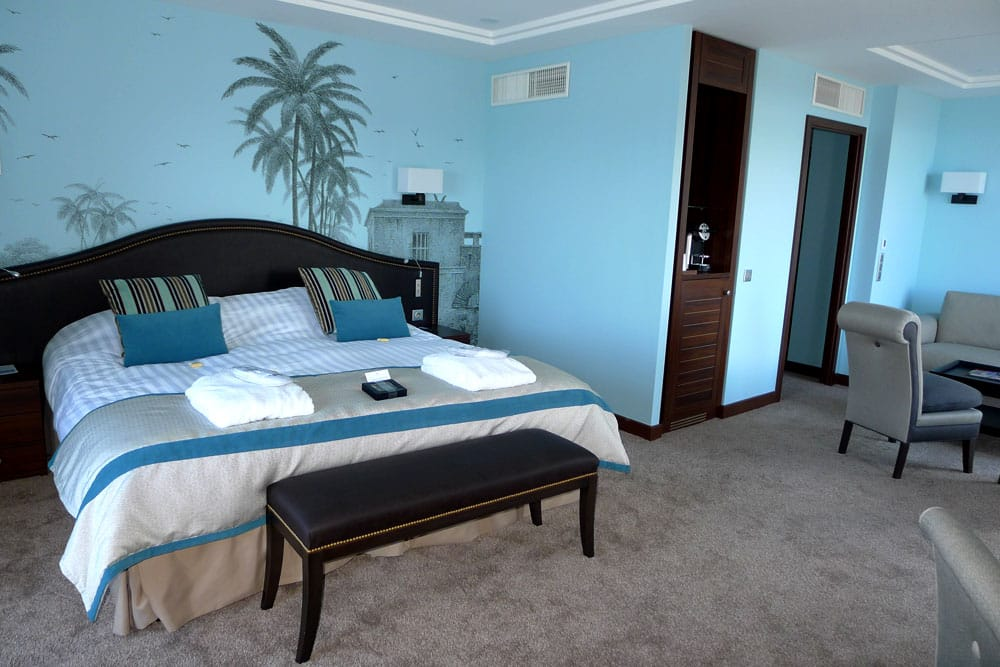 Junior suite : Chambre bleu