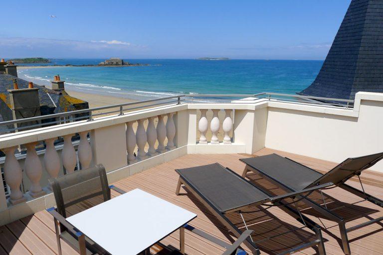 Junior suite : Terrasse - Hotel St-Malo