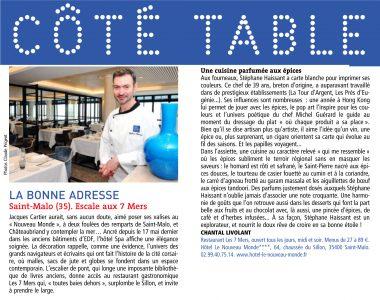 cote table - Août 2012