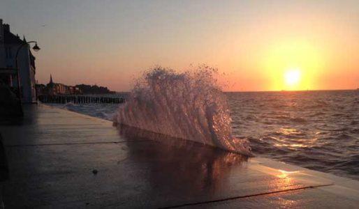 coucher de soleil et grand marée